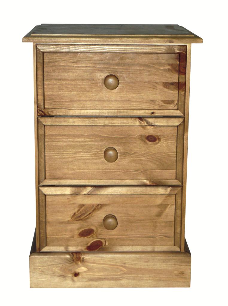 Premier Pine 3 Drawer Bedside