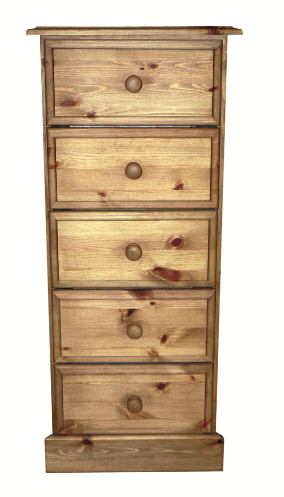 Premier Pine 5 Drawer Wellington Tall Chest