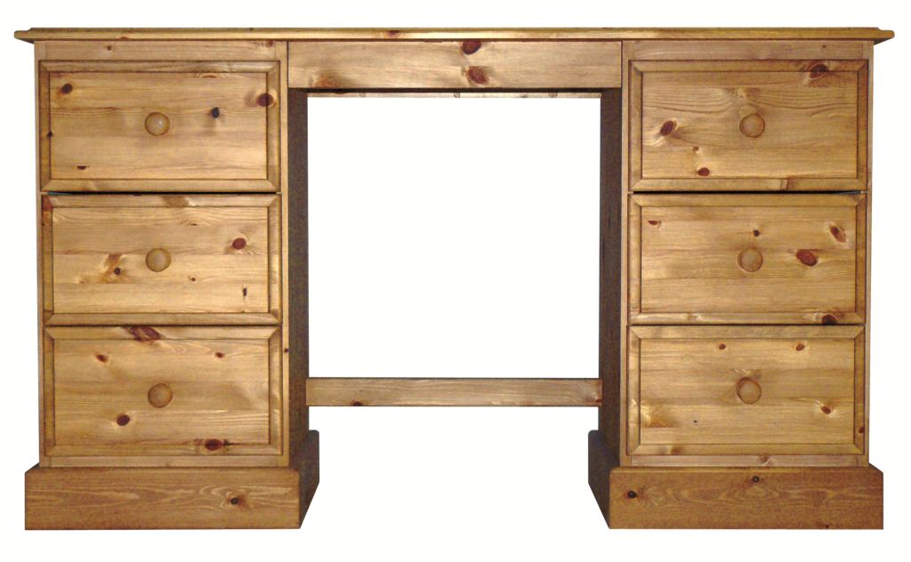 Premier Pine Double Ped Dressing Table