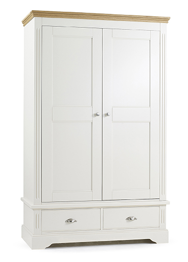 Kendal 2 Door Double Wardrobe With 2 Drawers - Our Price £1039