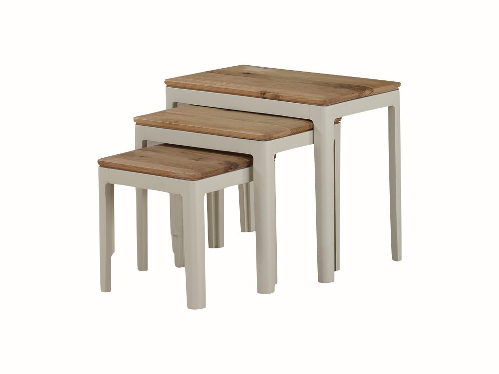 Dundee Painted Nest of 3 Tables - Our Price £199
