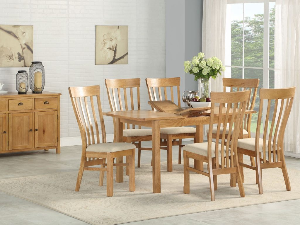 Kerry Oak Extending Table and 4 Chairs - Our Price £1129