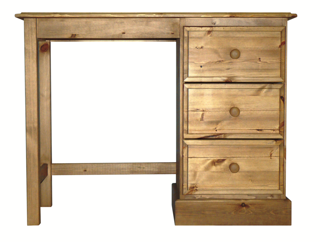 Premier Pine Single Ped Dressing Table