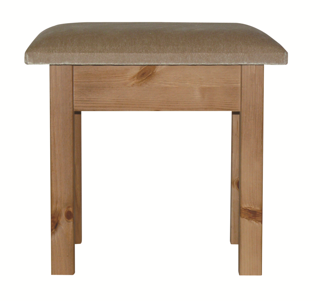 Premier Pine Stool With Beige Pad