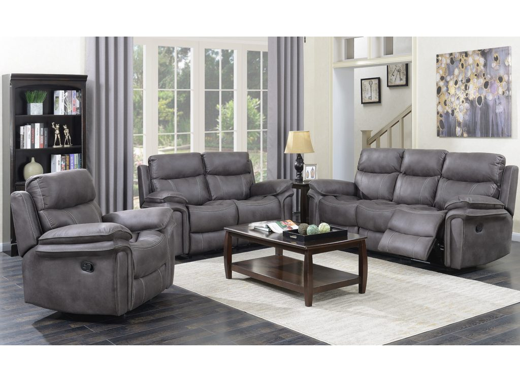 Richard Reclining Suite - Graphite Grey