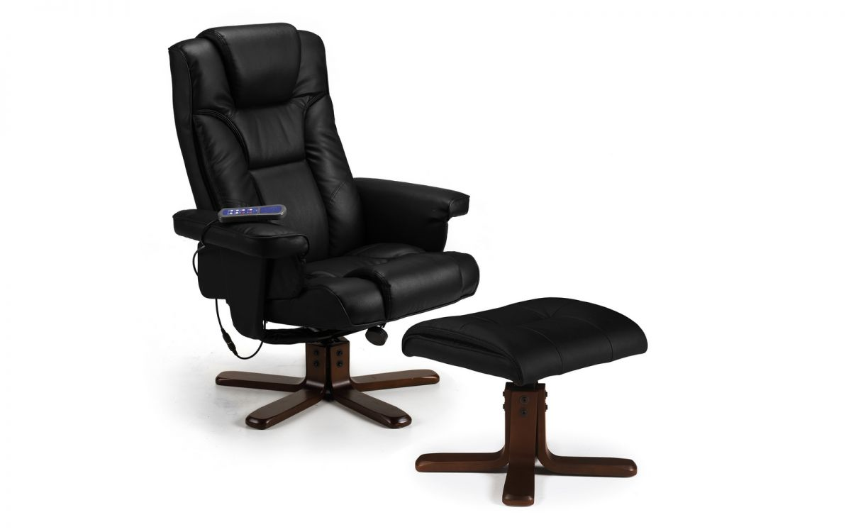 Sweden Massage Swivel Recliner Chair and Footstool