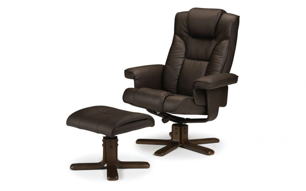 Sweden Swivel Recliner and Footstool