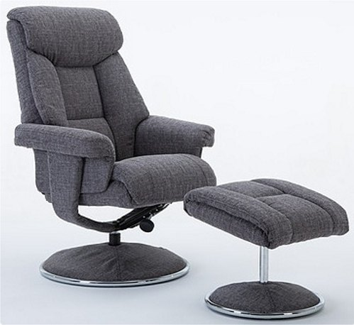 Frenchy Swivel Recliner and Footstool
