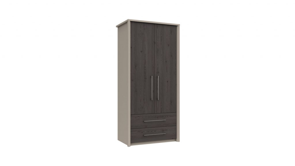 2 Door 2 Drawer Combi Wardrobe in Anthracite Larch - Our Price £435
