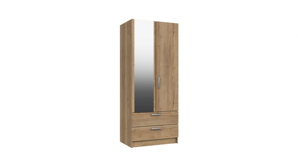 Cascada 2 Door 2 Drawer Combi Mirrored Wardrobe - Our Price £409