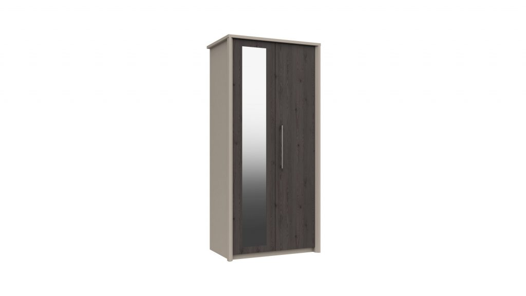 2 Door Mirrored Wardrobe in Anthracite Larch - Our Price £419