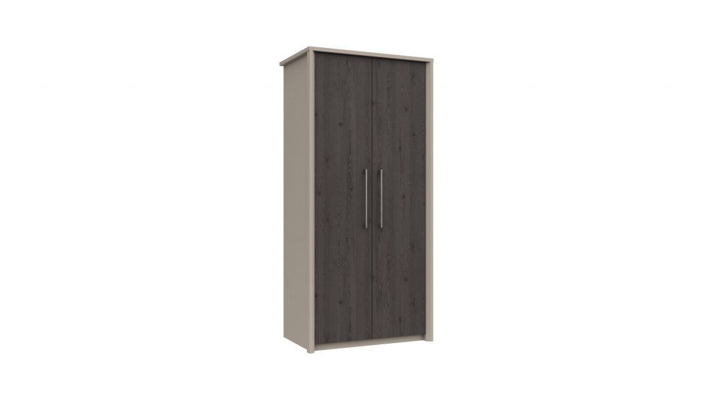 2 Door Wardrobe in Anthracite Larch - Our Price £365