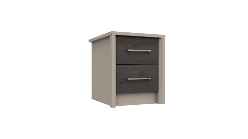 2 Drawer Bedside in Anthracite Larch - Our Price £135