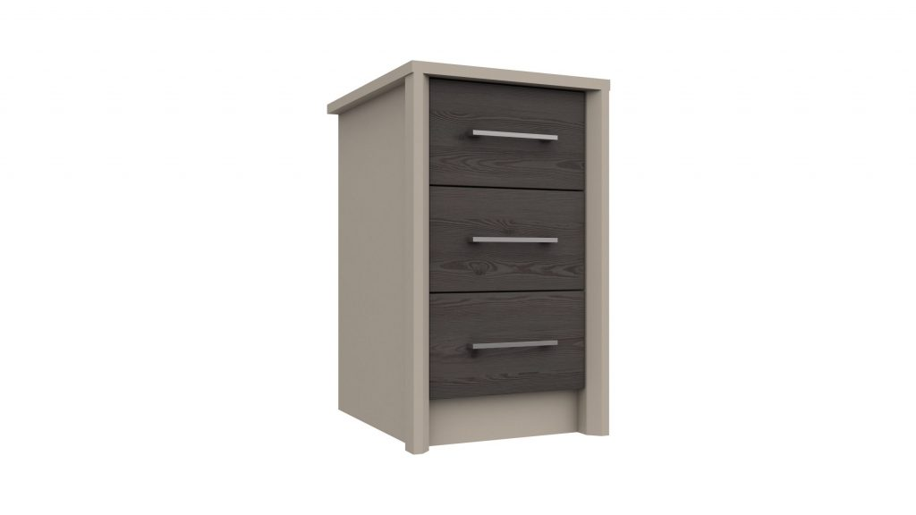 3 Drawer Bedside in Anthracite Larch - Our Price £159