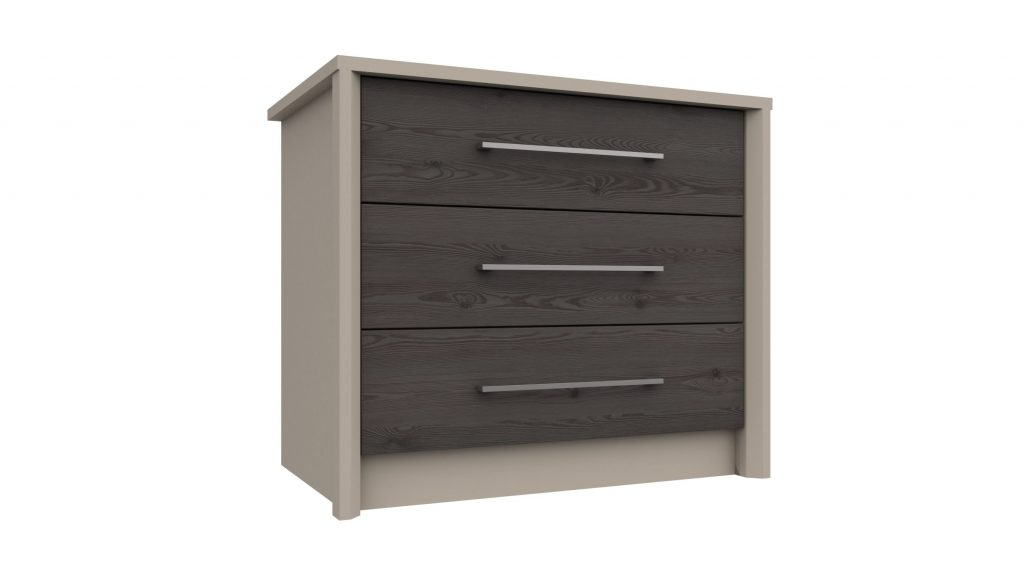 3 Drawer Chest in Anthracite Larch - Our Price £229