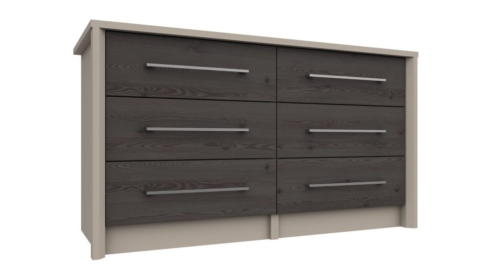 3 Drawer Double Chest in Anthracite Larch - Our Price £349