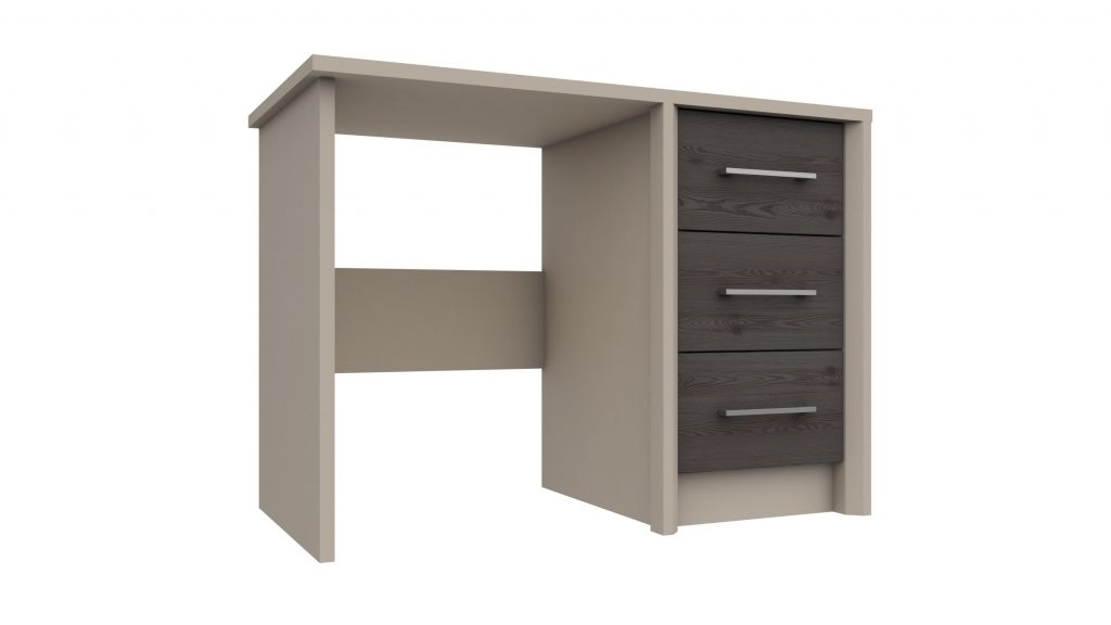 3 Drawer Dressing Table or Desk in Anthracite Larch - Our Price £249