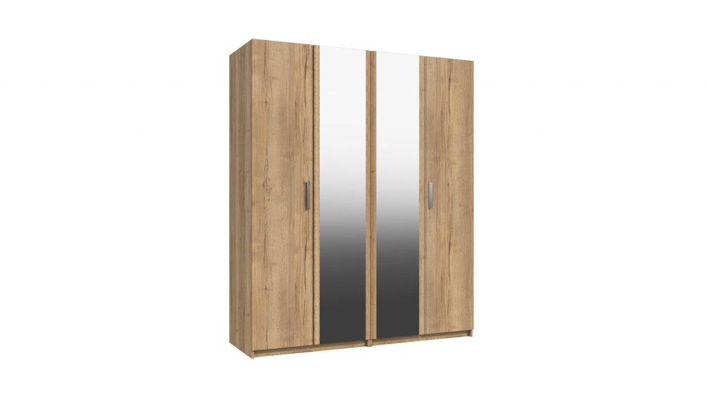 Cascada 4 Door Mirrored Wardrobe - Our Price £659