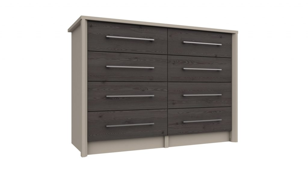 4 Drawer Double Chest in Anthracite Larch - Our Price £419