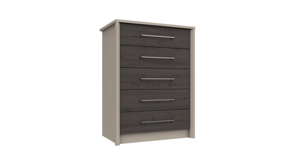 5 Drawer Chest in Anthracite Larch - Our Price £299