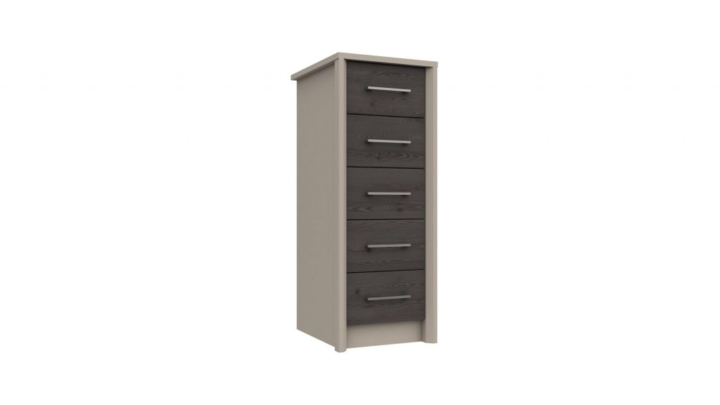5 Drawer Tall Boy in Anthracite Larch - Our Price £239