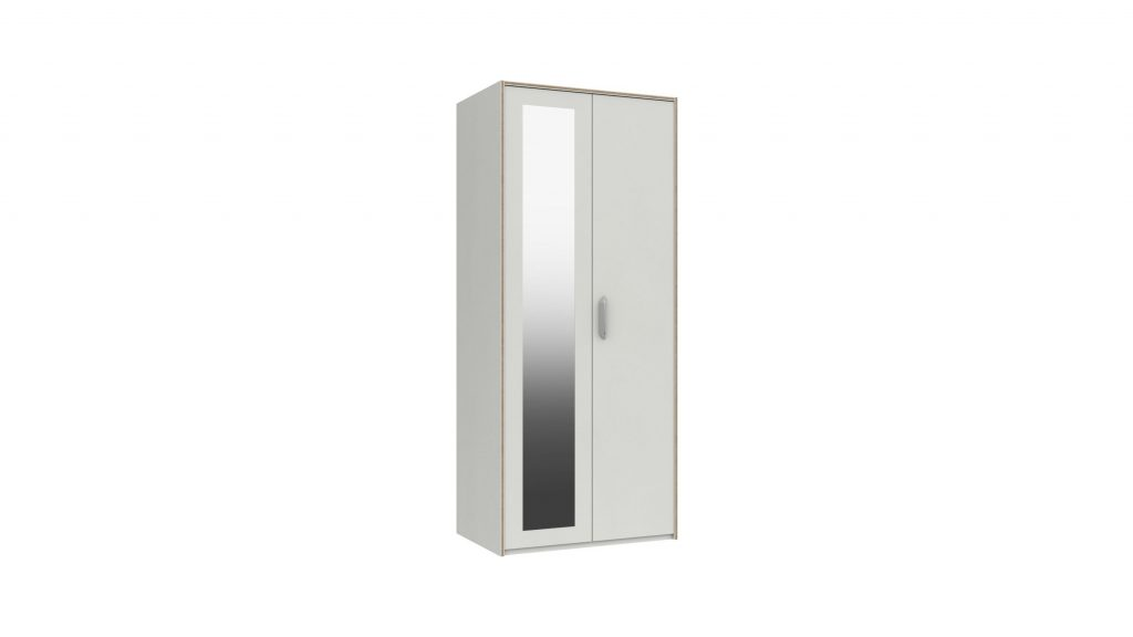 Martock 2 Door Mirrored Wardrobe - Our Price £349