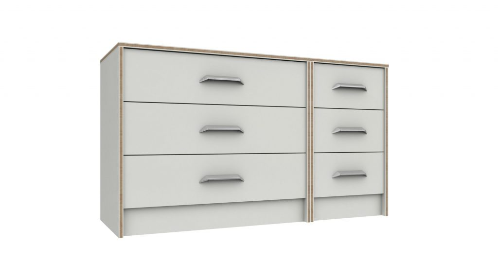 Martock 3 Drawer Double Chest of Drawers - Our Price £289
