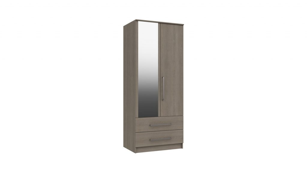 2 Door 2 Drawer Combi Mirrored Wardrobe - Our Price £409