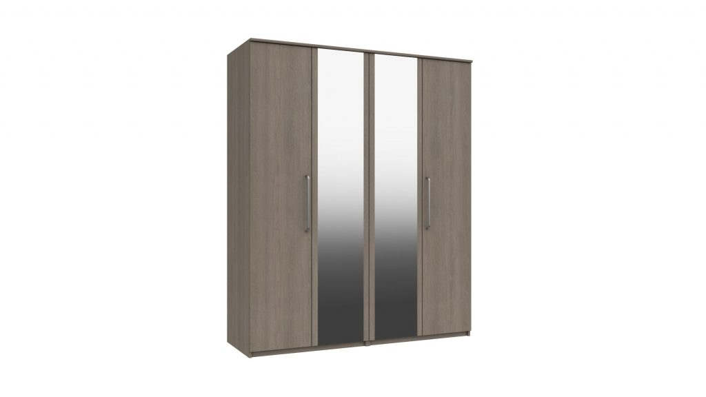 4 Door Mirrored Wardrobe - Our Price £659