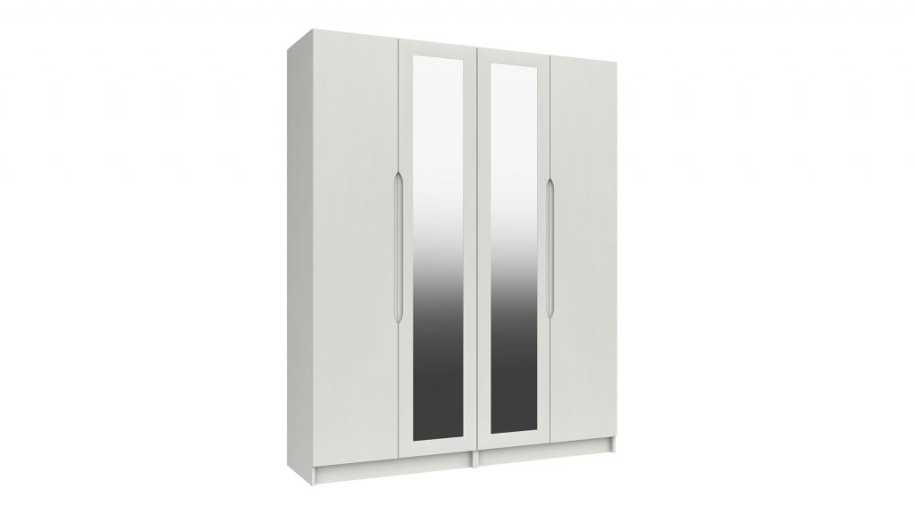Rene 4 Door Tall Mirrored Robe - Our Price £1569