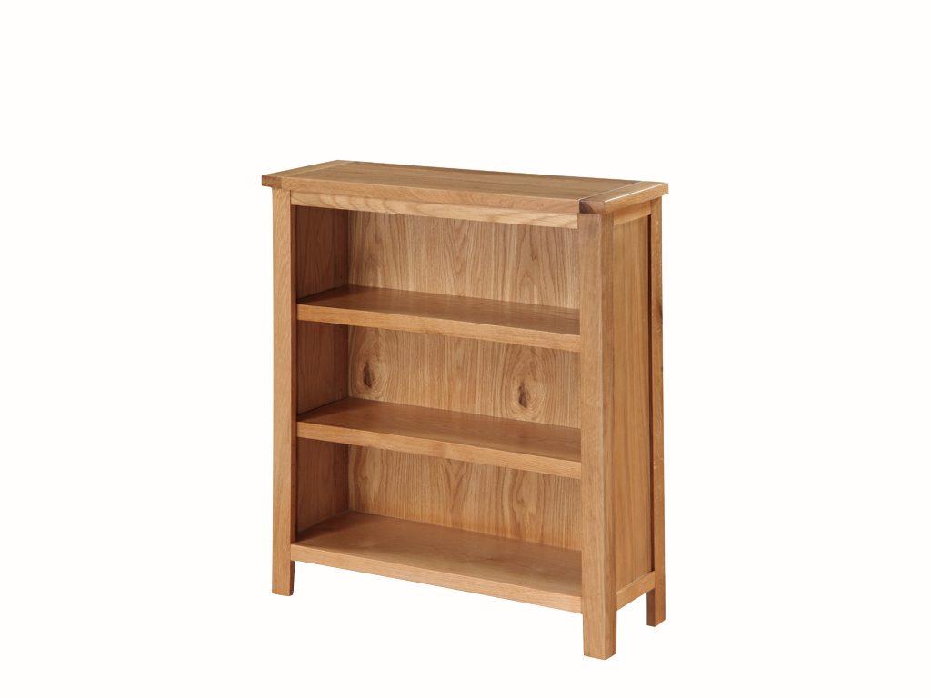 Richmond Light Oak Low Bookcase - Our Price £215