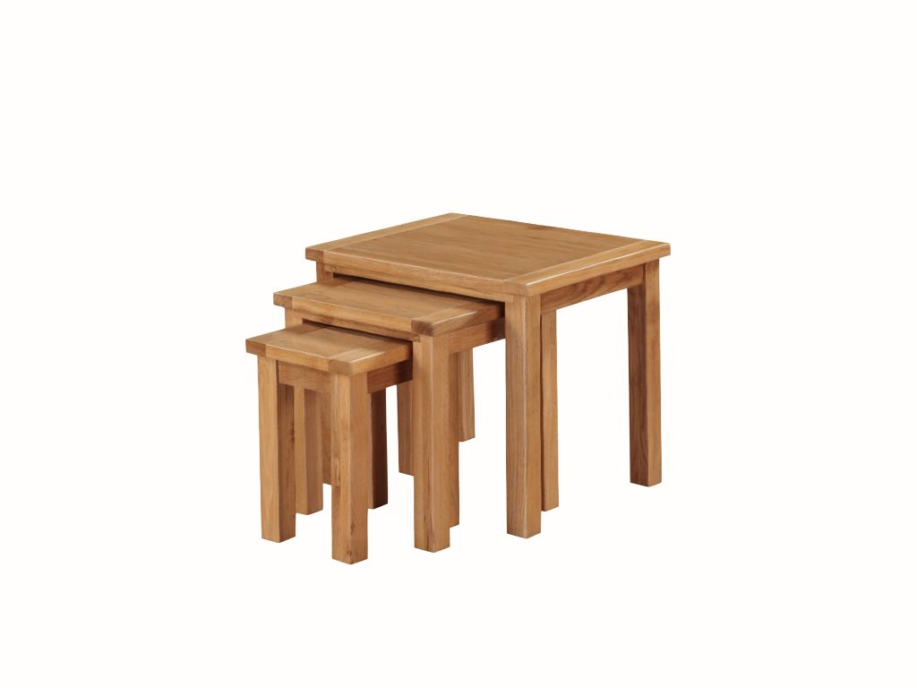 Richmond Light Oak Nest of Tables - Our Price £215