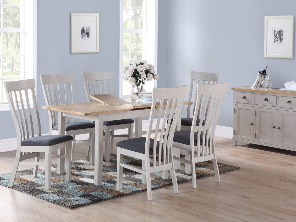 Kerry Painted 4' Extending Dining Table and 4 Chairs - Our Price £979
