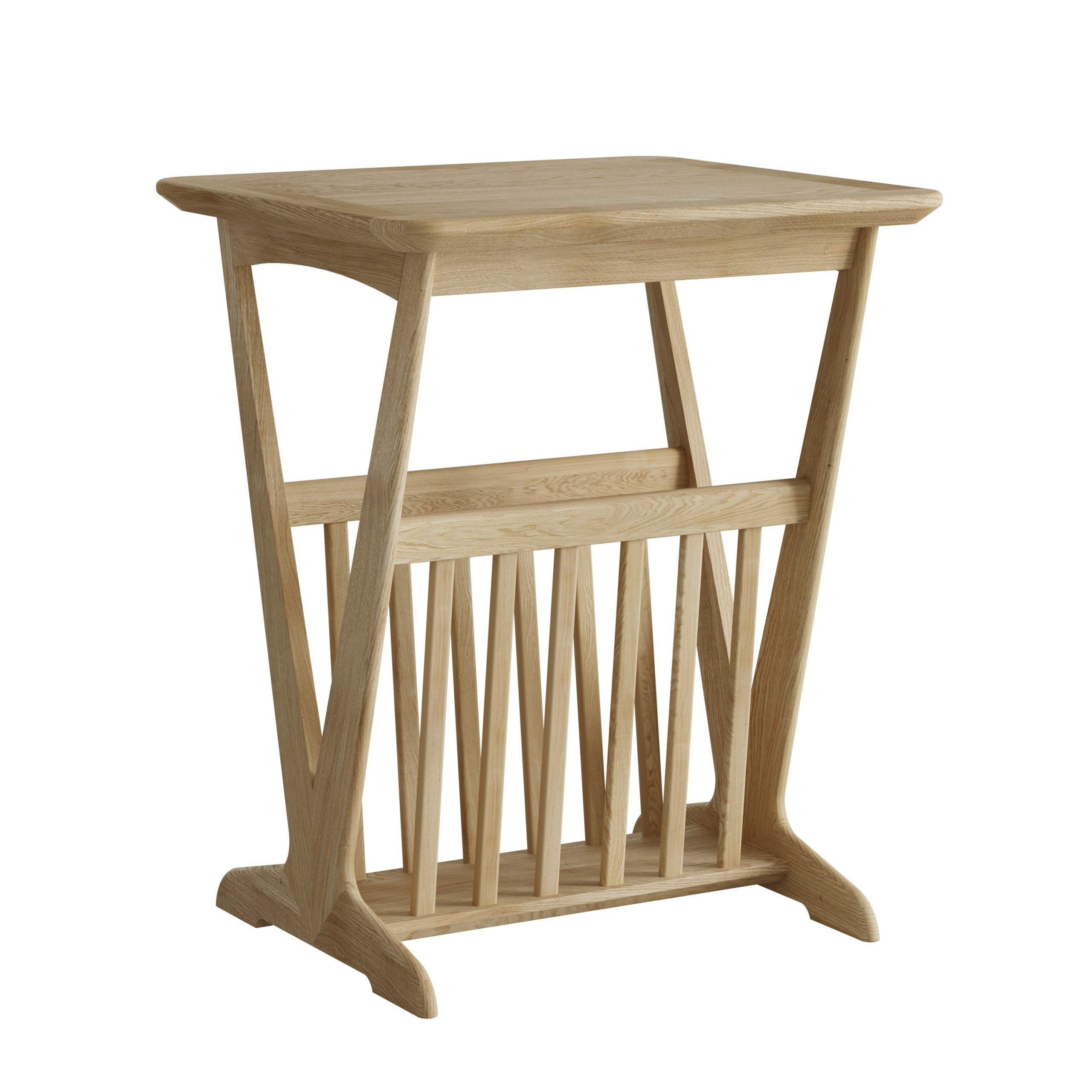 Oak Magazine Rack with Table - Our Price - Only £229