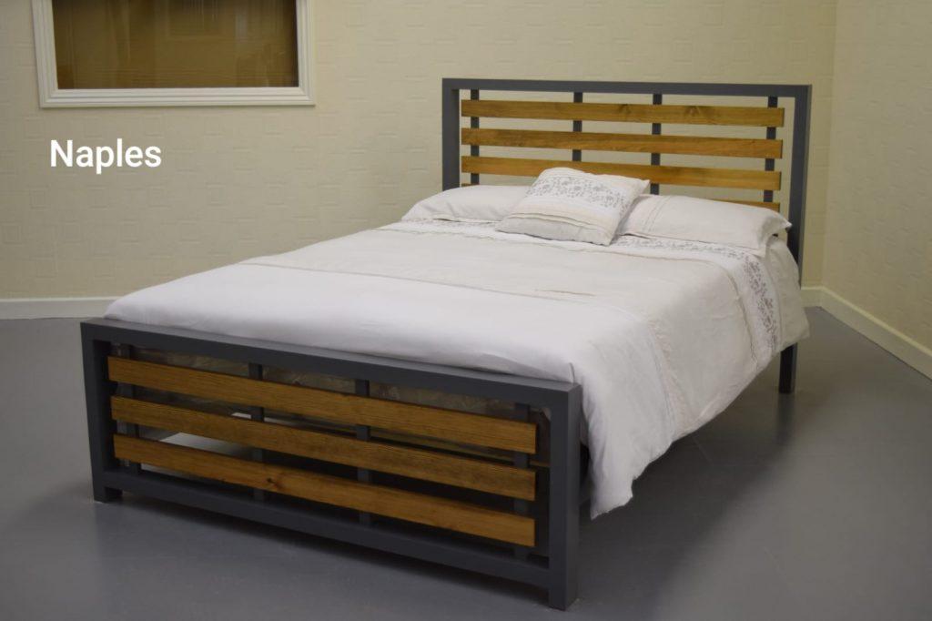 Naples Solid Pine Bed Frame