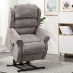 Buckingham Riser Recliner in latte fabric - Our Price £679