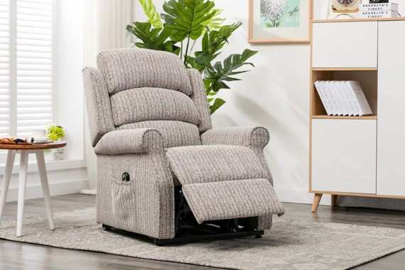 Buckingham Riser Recliner in natural fabric - Our Price £679