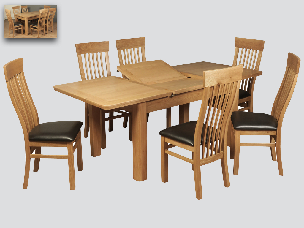 Milano 6ft Dining Table and 4 Chairs - Our Price £2639