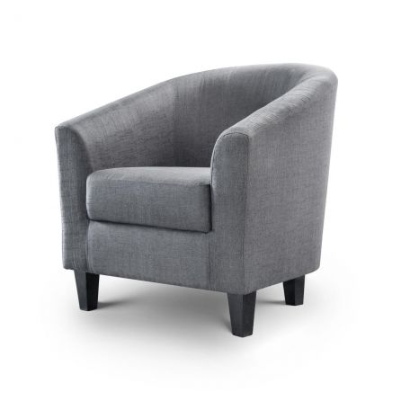 Huggie Tub Chair In Grey Fabric - Our Price £199